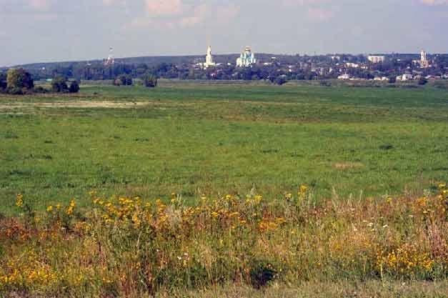 Вид на город Задонск с противоположного берега Дона