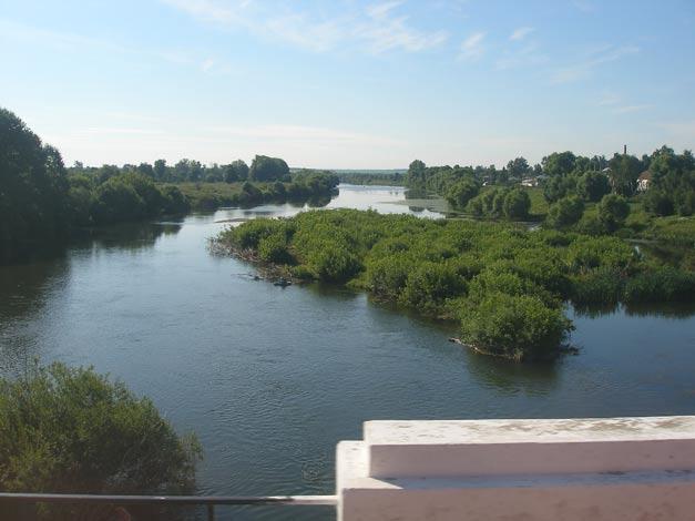 Вид на р. Дон с моста автотрассы Лебедянь - Липецк