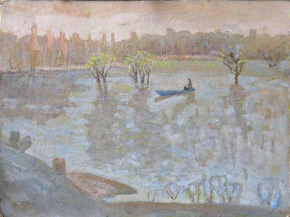 Донская живопись. картина &;талая вода