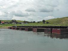 Наплавной, понтонный мост на реке Хопер у х. Захоперский